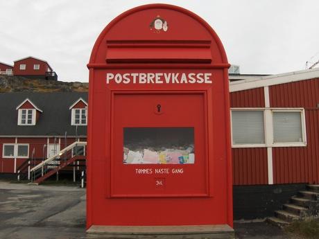 Billede af Julemandens postkasse i Nuuk.