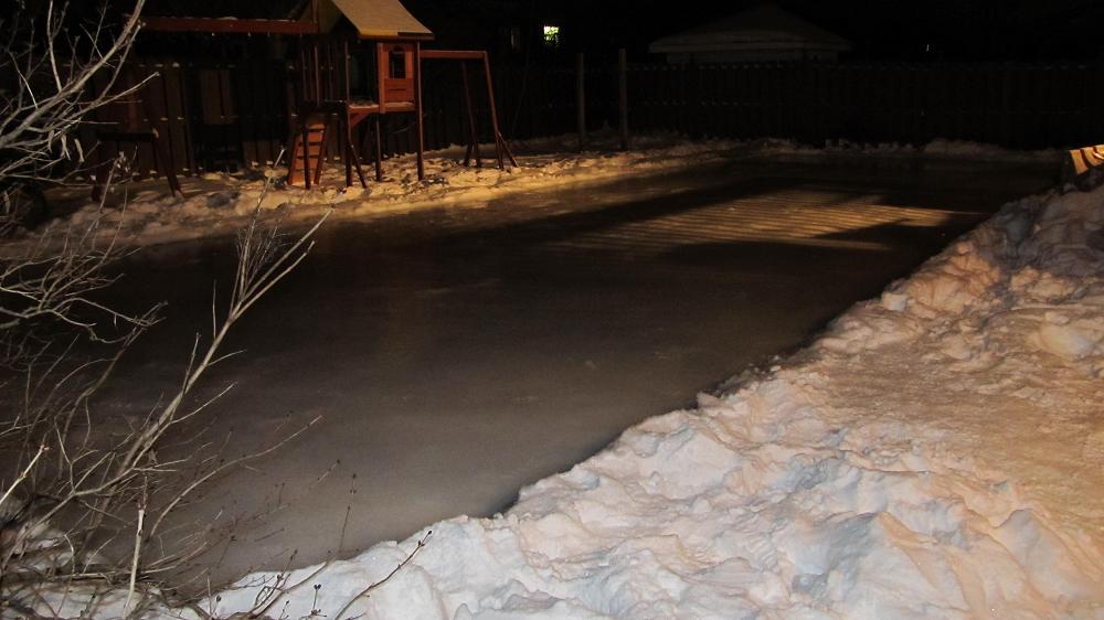 Rink at night - Dec 17 2010