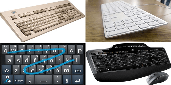 IBM, Apple, Swype, Logitech keyboards