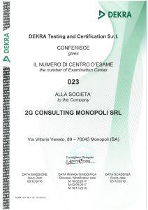 Certificato CDE 2G SRL DEKRA-1