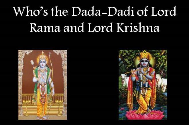 Dada Dadi of Lord Rama and Krishna