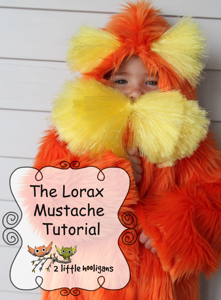 Handmade Costumes Series by The Train to Crazy {The Lorax Mustache Tutorial}