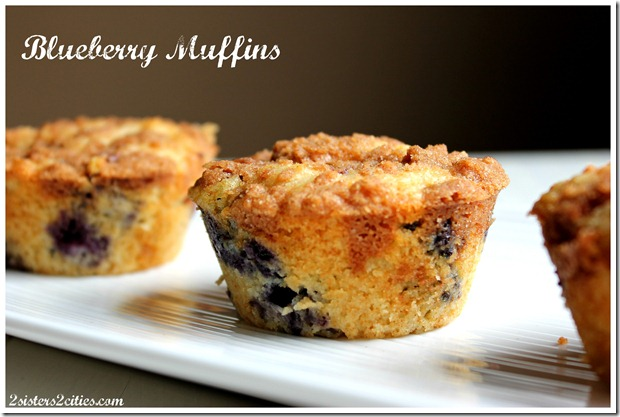 Blueberry Muffins {from 2 Sisters 2 Cities}