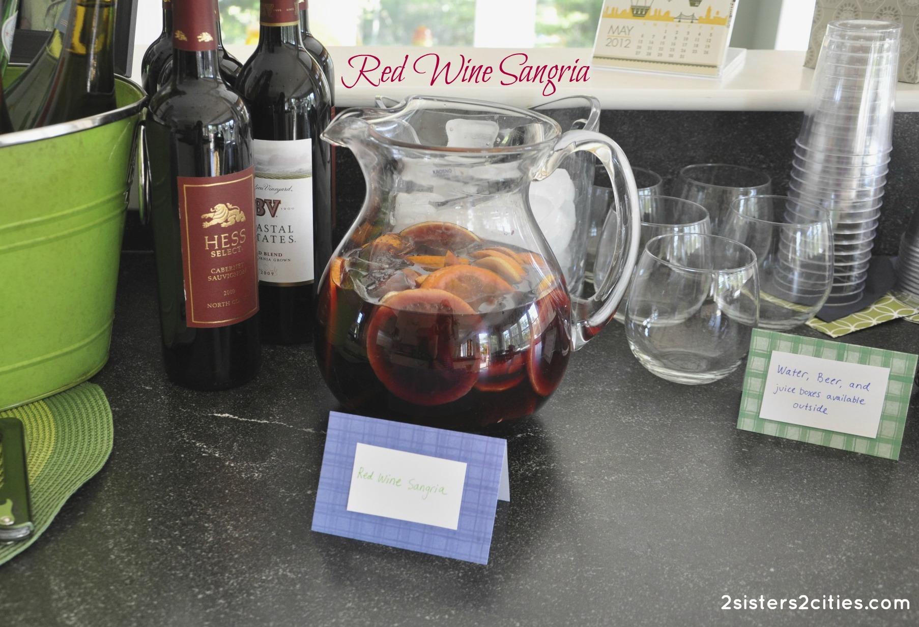 Sangria pig backyard bbq 2 sisters 2 cities for Sangria recipe red wine triple sec
