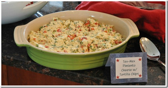 Tex-Mex Pimiento Cheese Dip with Tortilla Chips