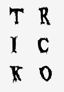 templates for the letters T-R-I-C-K-O