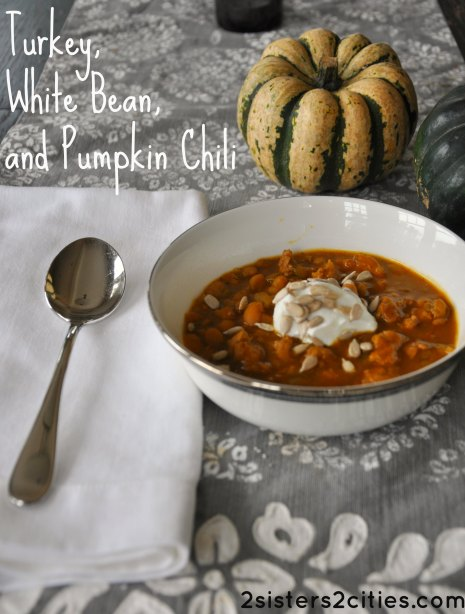 Turkey, White Bean, and Pumpkin Chili recipe