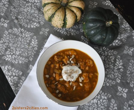 Turkey White Bean and Pumpkin Chili