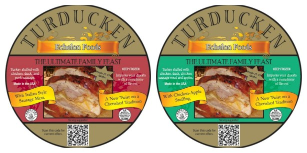 the original turducken packaging