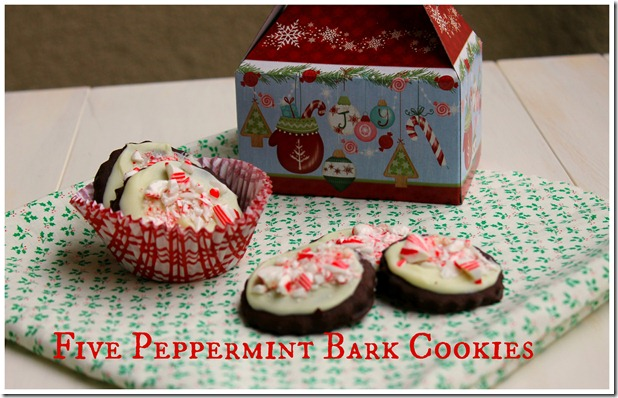Five Peppermint Bark Cookies