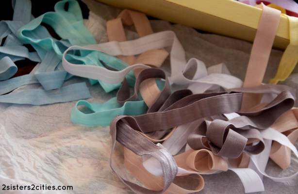old over elastic for DIY hair ties