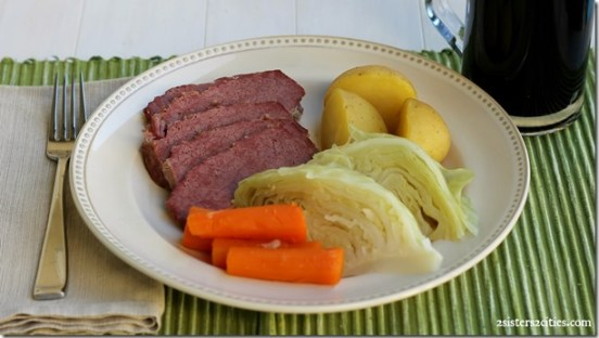 St. Patrick's Day Traditional Corned Beef Dinner