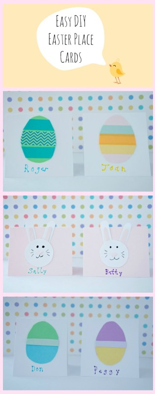 Easy Easter Place Cards {from 2 Sisters 2 Cities}