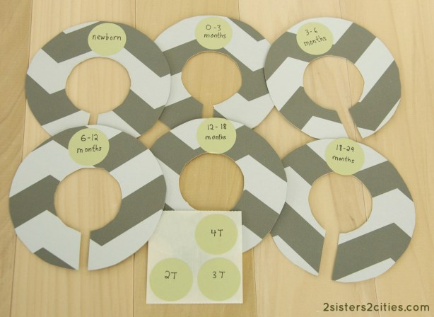 DIY Baby Closet Dividers {from 2 Sisters 2 Cities}