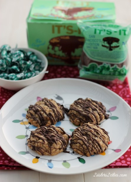4 Oatmeal Chocolate Mint Cookies