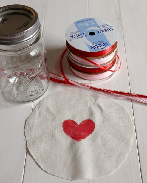 Getting Heart Jars Ready
