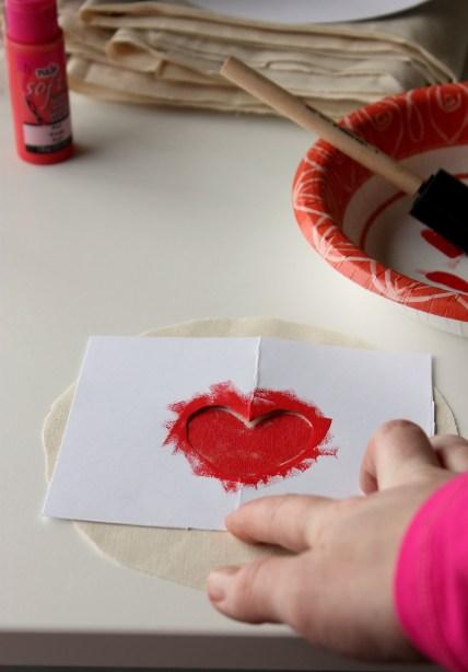 Stenciling Heart