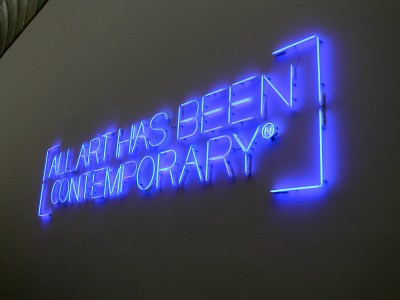I love this neon sign at the MFA!