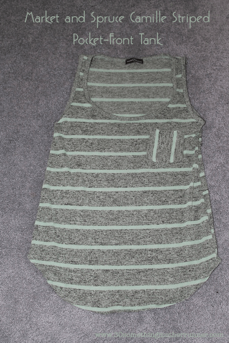 Market and Spruce Camille Striped Pocket-Front Tank