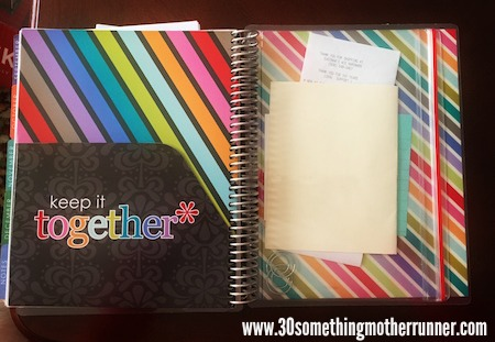 Erin Condren Pocket and Zip Folder