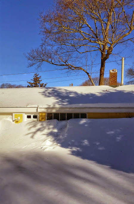 Garage after blizzard