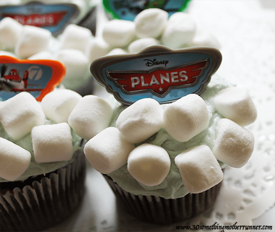 Cloud Cupcakes Close Up