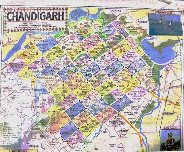 Mapa-de-Chandigarh