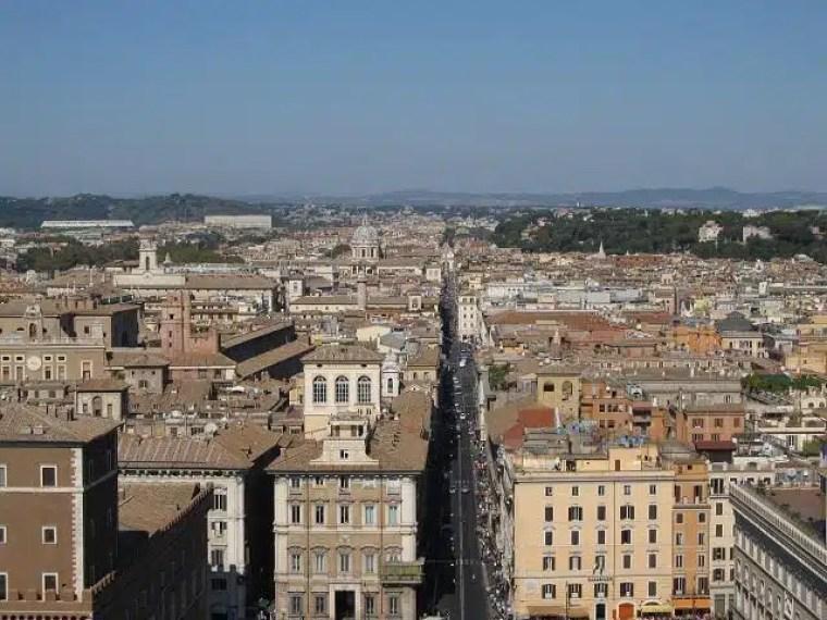 Vista de Roma, Itália