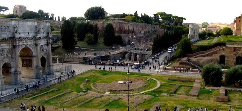 O mapa do tesouro do Fórum Romano