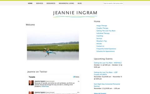 JeannieIngram.com - Home page