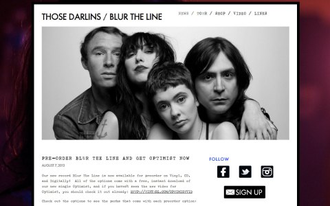 Those Darlins - Home page