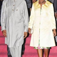 President Jonathan & Daughter Step Out for Yakubu Gowon's 80th Birthday Thanksgiving | Photos
