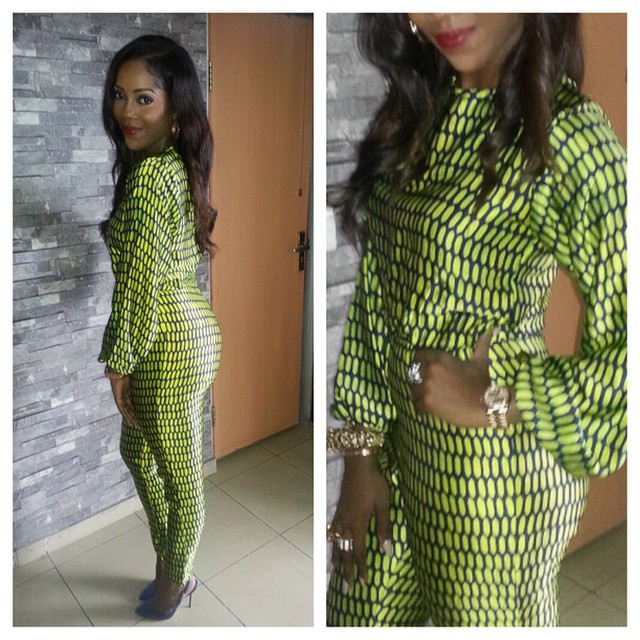 Tiwa Savage rocking her decoy ring recently....