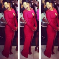 Tonto Dikeh Shows Off Too Much Bo-ob As She Steps Out At The NMA Awards In Red | Peek