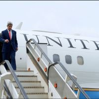 PHOTOS: John Kerry Arrives Lagos, Meets President Jonathan and Buhari