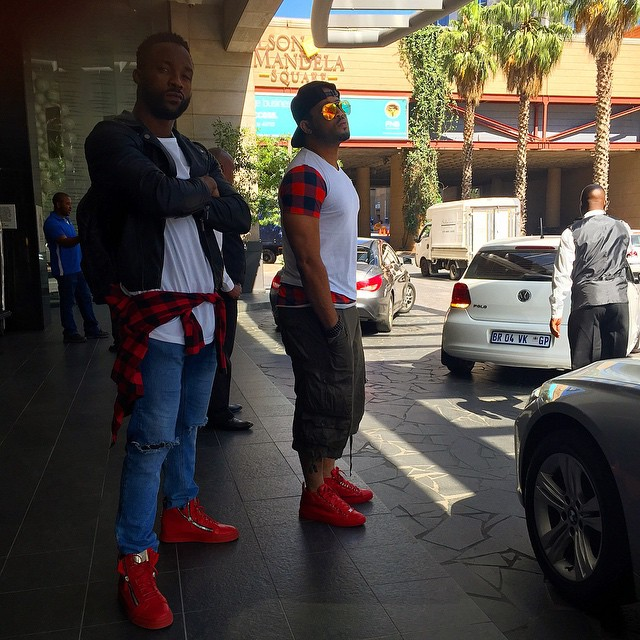Mike Ezu and Iyanya at Nelson Mandela Square