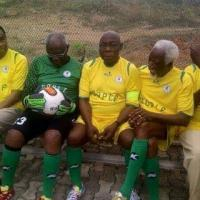 Obasanjo Rocks Jersey & Soccer Boots As He Brings Out His Inner 'Cristiano Ronaldo' For Soccer Match - PHOTOS