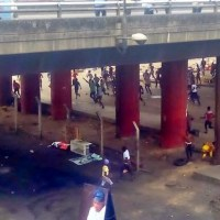 Scary Photos From The Scene Of Today's Riot At Oshodi In Lagos