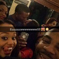 Toolz and Her Man Tunde In Passionate Kissing at Her Birthday Dinner - PHOTO