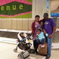 Mercy Johnson & Family Arrive Paris For Mini-Vacation