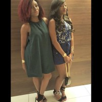 Basketmouth & Bovi's Beautiful Wives Elsie & Kris Show Off Stylish Look As They Step Out For 'Lord Of The Ribs' Show