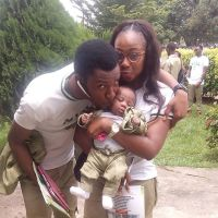 Checkout This Cute NYSC Couple With Their Corper Baby (Photo)