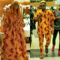 Olamide and Actress Tayo Sobola Step out in The Same Ankara Outfit
