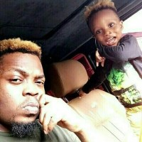 Olamide & Son, Batifeori Show Off Matching Cap & Blonde Hairsryle (Photos)