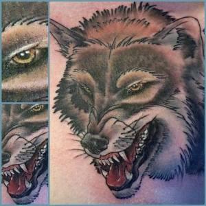 Wolf | Aubrey | 39th Street Tattoo Kansas City