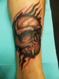 Black and Grey Skull | Joe | 39th Street Tattoo Kansas City