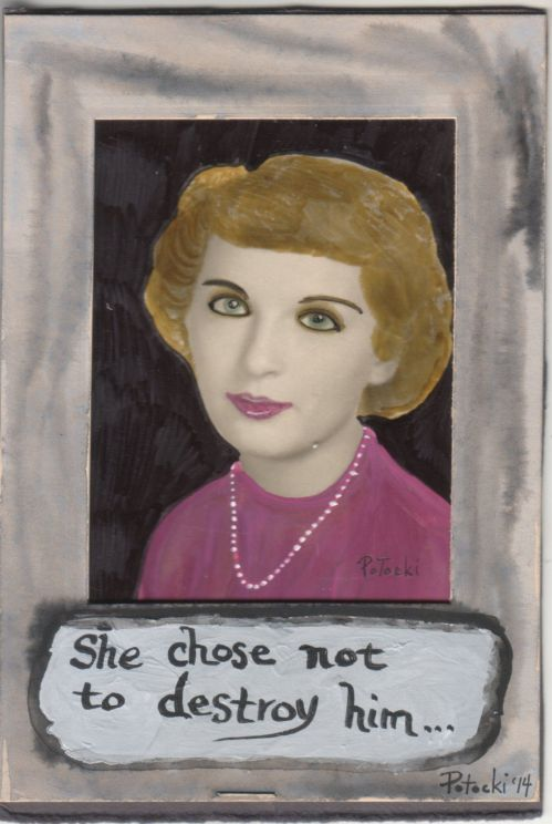 She Chose not to Destroy Him Original Art Altered Art on Vintage Photo Truth | eBay