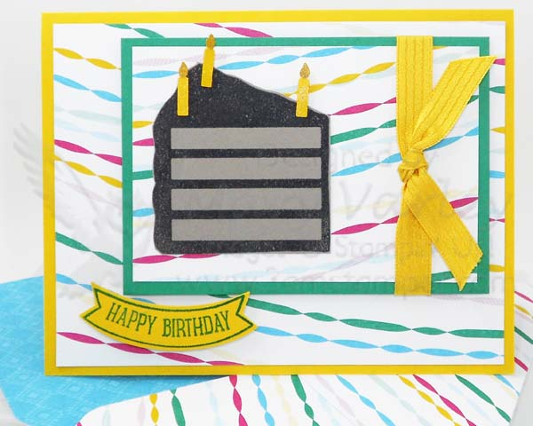 Chocolate Cake Birthday Card - Visit http://www.3amstamper.com