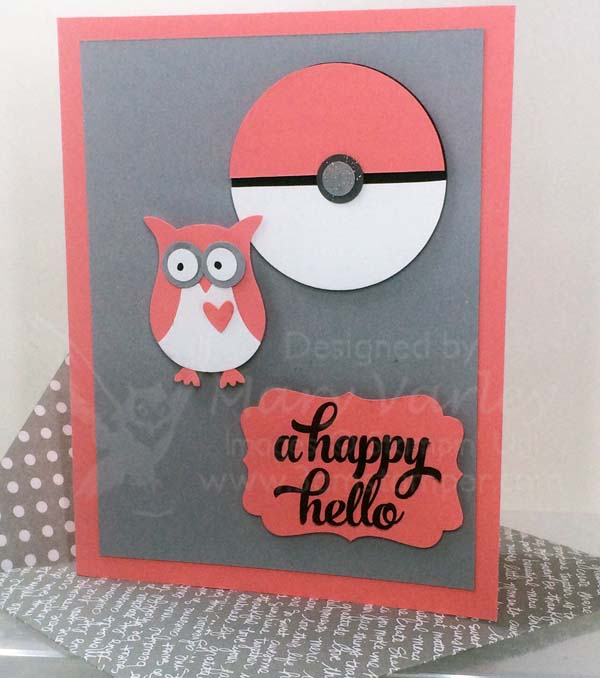 Flirty Flamingo Owl Pokemon Card - Visit http://www.3amstamper.com