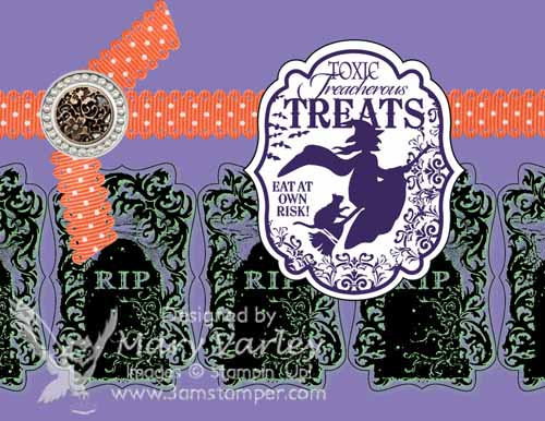 Halloween Party Invitation - Visit http://www.3amstamper.com